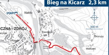 Bieg na górę Kicarz - nowa trasa mistrzostw Polski w Hill Nordic Walking [MAPA]