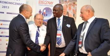 Zygmunt Berdychowski i Bruno Gozzelino na kongresie WMRA