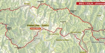 B7D: trasa biegu na sto kilometrów