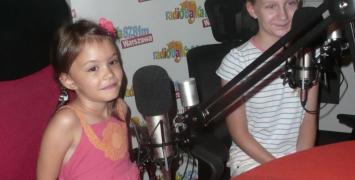 Najmłodsi uczestnicy Festiwalu Biegowego na antenie Radia Bajka