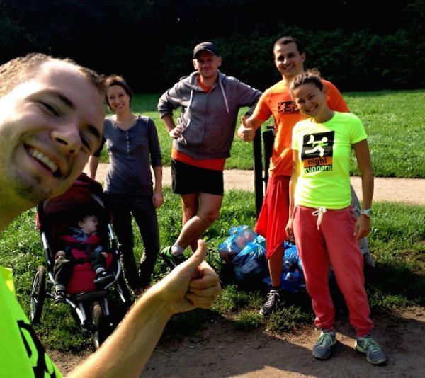 Night Runners i City Trail sprzątali Rusałkę (13.09.2014)