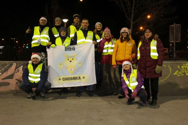 Mikołajkowy Nocny Bieg Chomika w Warszawie (5.12.2019)