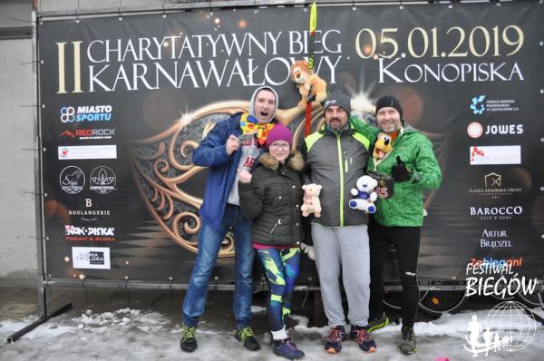 2. Charytatywny Bieg Karnawałowy w Konopiskach (5.1.2019)