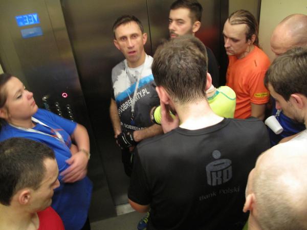 Marriott Everest Run w Warszawie (24.1.2015)