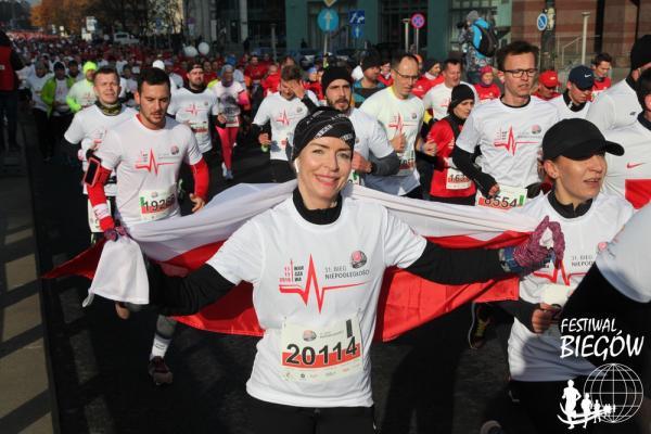31. Bieg Niepodległości w Warszawie - na trasie (11.11.2019)