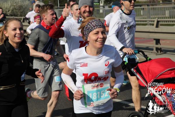 Bieg OSHEE 10 km w Warszawie (14.4.2019)
