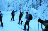 Drapa - zdobywanie szczytów w Beskidzie Wyspowym na nartach biegowych