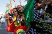 Zwycięzca maratonu w Dubaju w 2012 r.  Ayele Abshero