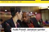 Asafa Powell przed komisją antydopingową/ Fot. screen za BBC.com