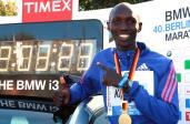 Kenijczyk Wilson Kipsang z wynikiem 2:03:23 jest aktualnym rekordzistą świata w maratonie